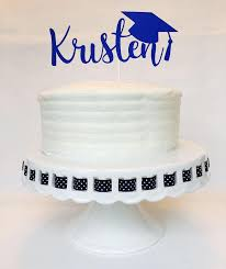 Graduation Cake Topper Personalized Name High School Etsy