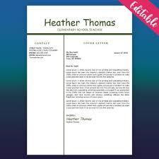 Teacher Resume Template Educator Resume Free Cv Word Template Green White