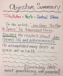 how to write an objective summary the learning cafe sample objective summaries