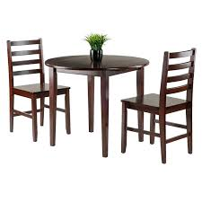 grove hill outdoor patio furniture dining sets pieces 3 piece drop leaf wood dining set grove