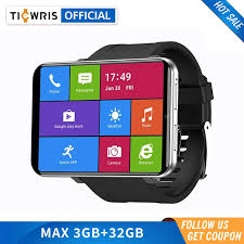 "<b>Ticwris</b> MAX S 4G Smart Watch Phone For <b>Men</b> 2.4"" 2000mAh Dual ..."