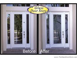 Delighful Glass Front Door Designs Etched Doors Tampa I With Creativity Ideas