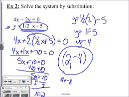 solving linear equations substitution pretty 5 2 systems