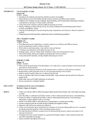Bakery Clerk Job Description For Resume Bakery Clerk Resume Samples Velvet Jobs 15