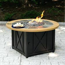 round gas fire pit table. Propane Gas Fire Table Incredible Round Pit Bowl With Slate And Faux Wood Mantel .
