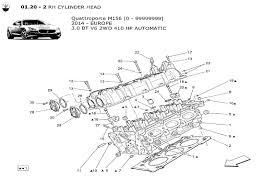 maserati qtp v6 3 0 2wd 2014 > engine order online eurospares v6 3 0 2wd 2014 rh cylinder head diagram