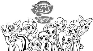 Small Picture Coloring Page My Little Pony Printable Pictures mosatt