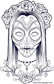 Small Picture sugar skull halloween adult Coloring pages Printable