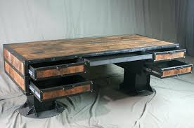 industrial office desks. Industrial Office Desk What Are Desks And Chairs Made From Within Rustic .