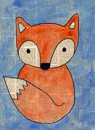 Art For Kids Fox Painting On Newspaper Fox Art Newspaper And Foxes