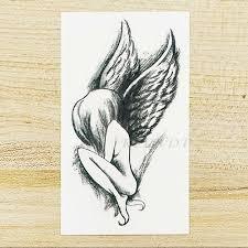 водонепроницаемый временные татуировки наклейки крылья ангела поддельные Tatto Flash
