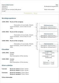 Chronological Resume Template Free Download