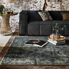 extra overdyed rug army green