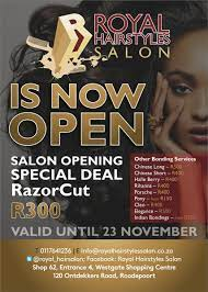She is so good with kinky natural hair! Royal Hair Salon On Twitter We Re Now Open Westgate Mall Salon Opening Specials R300 For A Razorcut Call 0117641236 For More Information Http T Co Xafo5qdk8v