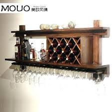 wine rack with glass holder hanging wall co com intended for plans and hung mounted canada wall series bottle mounted wine rack