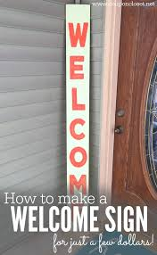 quick and easy diy welcome sign