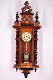 german wall clock antique spring driven timely makers