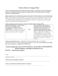 behavior intervention plan template photo collection examples of behavior support plans