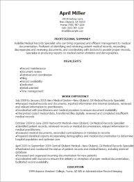 Medical Logistics Specialist Resume | Dadaji.us