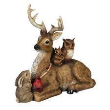 woodland creatures garden statue