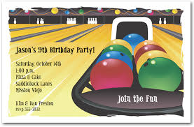 Birthday Party Evites Bowling Game Birthday Party Invitations Free Printable