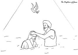 Coloring Page Of Jesus Being Baptized My Localdea