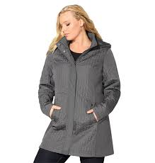 Avenue Women's Herringbone Quilted Jacket with Knit Sides * See ... & Avenue Women's Herringbone Quilted Jacket with Knit Sides * See this great  image : Plus size Adamdwight.com