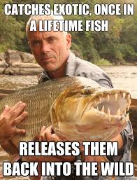 catches exotic, once in a lifetime fish releases them back into ... via Relatably.com