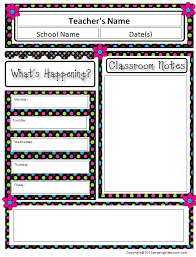 Monthly Newsletter Template For Teachers This Monthly Newsletter Template Set Includes 2 Or 3different