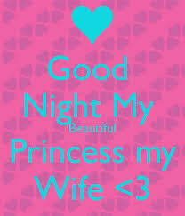 Beautiful Princess Quotes Best Of Good Night My Beautiful Princess My Wife Good Night Wishes Quotes