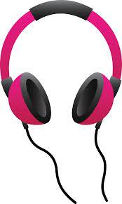 dj speakers clipart. pink headphones dj speakers clipart