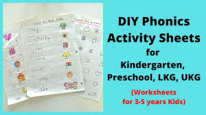 Phonics worksheets to support your child's learning and help them prepare for the year 1 phonics screening check. Phonics Worksheets For Kindergarten Lkg Ukg Preschool Diy Phonics Activity Sheets For 4 6 Years Youtube