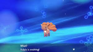 Pokemon Sword And Shield - Vulpix Evolves Into Ninetales - YouTube