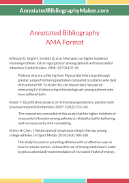 Annotated Bibliography Ama Format Sample Annotated Bib Maker Samples
