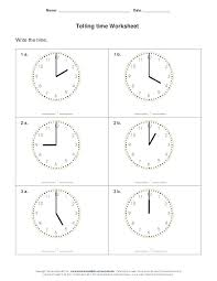 Telling Time Worksheets For School Printable Kindergarten Free ...