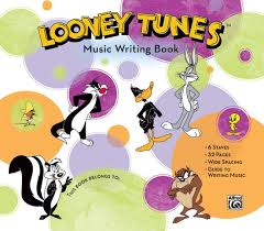 Music Writing Paper Looney Tunes Music Writing Book