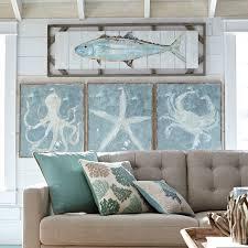 Small Picture Blue Burlap Canvas Crab Art Home Decor Wall Art Ideas wntrza