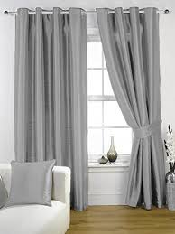 grey bedroom curtains. silver grey faux silk lined curtains with eyelet ring top 66 x 72\ grey bedroom curtains amazon uk