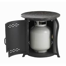 table propane tank cover with granite top