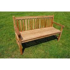 flat arm teak bench straight top 1 2mt premium