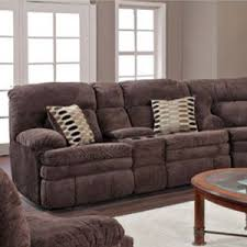 HomeStretch Dane Brown Reclining Sectional with Console