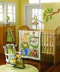 giraffe elephants monkeys jungle animals boy baby crib