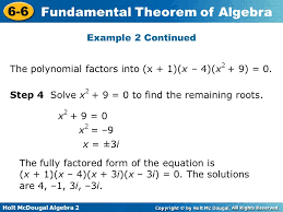 example 2 continued the polynomial factors into x 1 x 4
