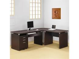office furniture ideas decorating. Creative Of Home Office Desk Furniture Design Of L  Shaped Dark Office Furniture Ideas Decorating