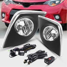 2014 Toyota Corolla Fog Light Bulb Fog Lights H16 12v 19w Halogen Lamp For Toyota Corolla 2014 2015 2016 Not For Corolla S Clear Lens Chrome Trim With Bulbs Wiring Kit