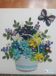 Paper Quilling Flower Baskets 12 River Creative Flower Basket Naver Blog Paper Quilling
