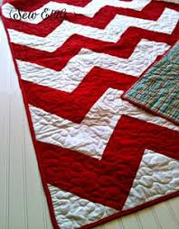 Backing for Chevron Quilt | Quilting | Pinterest | Chevron quilt ... & Sale Red and White Chevron Quilt Plaid backing Christmas by SewEMG, $180.00 Adamdwight.com