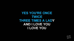 Three Times A Lady in the style of Commodores karaoke ...