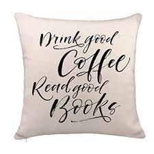 Amazon Book Lover Quotes Throw Pillow Case Cushion Cover Cotton Adorable Book Lover Quotes