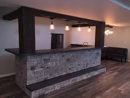 Home Basement Bars Dynamic Basement Bar Design With Beams House Pinterest